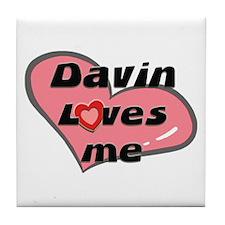 davin loves me  Tile Coaster