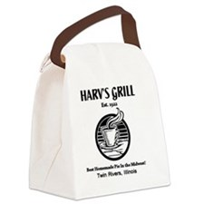 Harvs Grill Logo Canvas Lunch Bag
