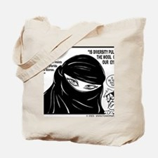 DIVERSITY PULLING THE WOOL OVER OUR EYES Tote Bag
