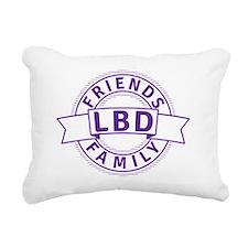 Lewy Body Dementia Aware Rectangular Canvas Pillow