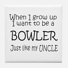 WIGU Bowling Uncle Tile Coaster