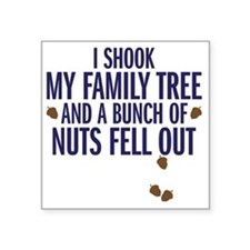 "nuts fell out Square Sticker 3"" x 3"""