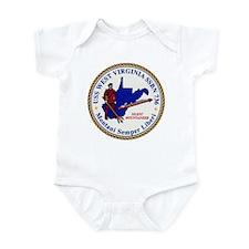 USS WEST VIRGINIA Infant Bodysuit