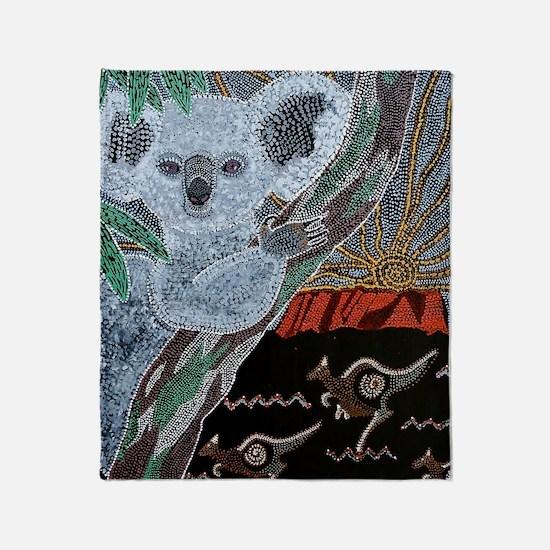 Koala  Kangaroo Sunset Throw Blanket