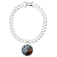 Koala  Kangaroo Sunset Charm Bracelet, One Charm