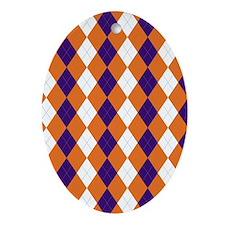 Clemson Argyle Sock Pattern South Ca Oval Ornament