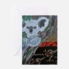 Koala  Kangaroo Sunset Greeting Card