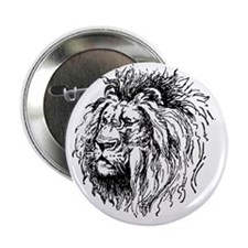 "Vintage Lion 2.25"" Button"