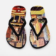 Vintage San Francisco Flip Flops