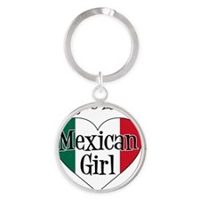 Everyone Loves Mexican Girl Round Keychain
