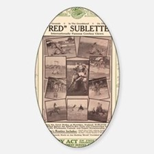 Red Sublette 23x35 Sticker (Oval)