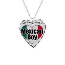 Everyone Loves Mexican Boy Necklace Heart Charm