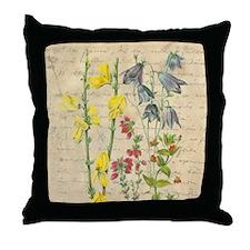 antique Flowers Throw Pillow
