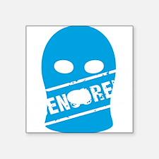 "Balaklava censored for blac Square Sticker 3"" x 3"""