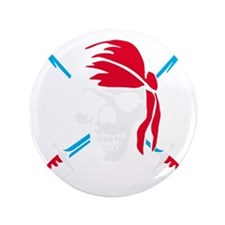 """pirate saber skull and bones 3.5"""" Button"""