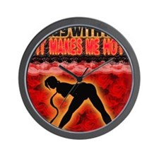 Play with me it makes me hot 3 Wall Clock
