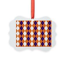 Clemson Argyle Sock Pattern South Ornament