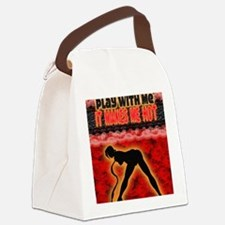 Play with me it makes me hot 3 Canvas Lunch Bag