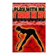 Play with me it makes me  Postcards (Package of 8)