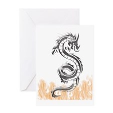 Silver Dragon Design Greeting Card