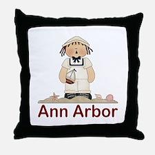Ann Arbor Michigan Throw Pillow