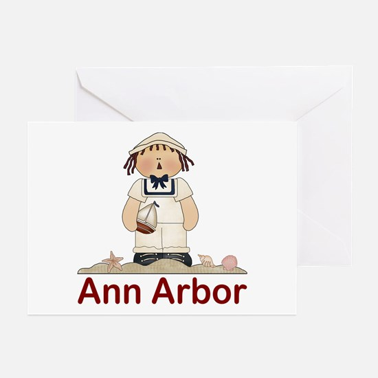 Ann Arbor Michigan Greeting Cards (Pk of 10)