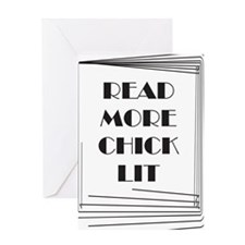 Read More Chick Lit Greeting Card