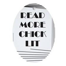 Read More Chick Lit Oval Ornament