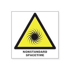 """Nonstandard Spacetime Square Sticker 3"""" x 3"""""""