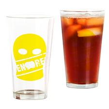 Balaklava censored yellow for black Drinking Glass