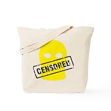Balaklava censored yellow for white big Tote Bag
