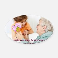 Be the World Oval Car Magnet