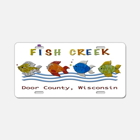 Fish Creek, Wisconsin Aluminum License Plate