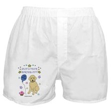 happy birthday from goldendoodle-more Boxer Shorts