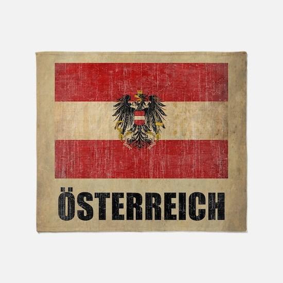 Vintage Austria Throw Blanket