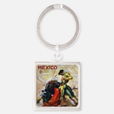 Vintage Mexico Square Keychain