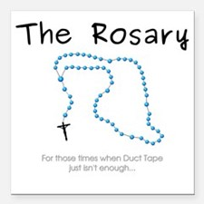 """The Power of the Rosary Square Car Magnet 3"""" x 3"""""""