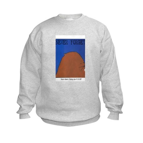 Pensive Hamster: Never Forget Kids Sweatshirt