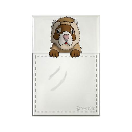 Pocket Ferret Rectangle Magnet