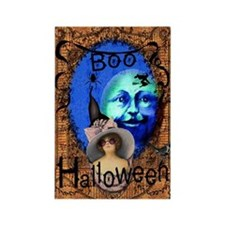 Halloween Witch Color Rectangle Magnet