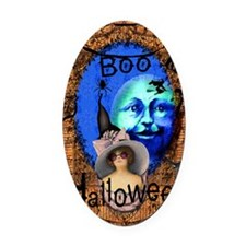 Halloween Witch Color Oval Car Magnet