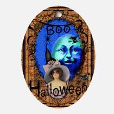 Halloween Witch Color Oval Ornament