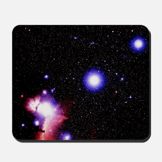Optical image of the stars of Orion's be Mousepad
