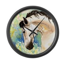 Spring Horse Large Wall Clock