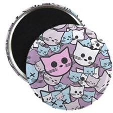 Funny Cat Faces Magnet