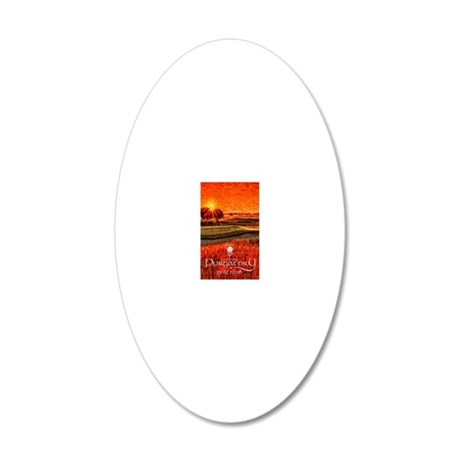 Sunrise over 16 iphone 20x12 Oval Wall Decal
