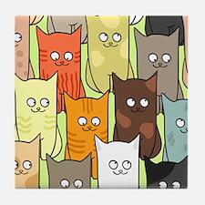 Cute Cats Tile Coaster