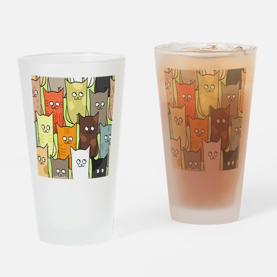 Cute Cats Drinking Glass