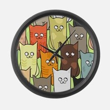 Cute Cats Large Wall Clock