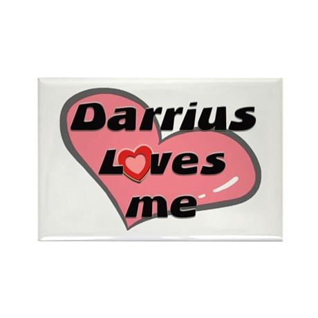 darrius loves me Rectangle Magnet